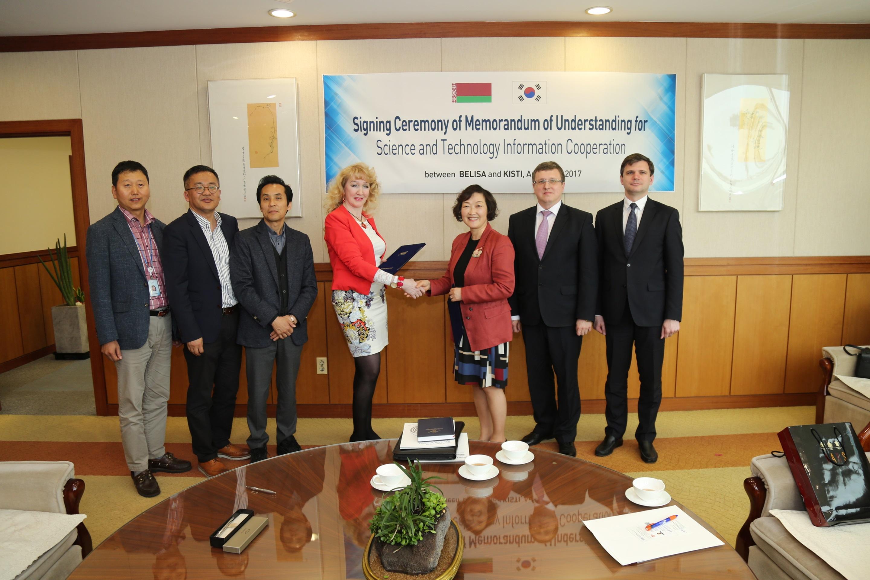 Belarus S&T delegation visited KISTI