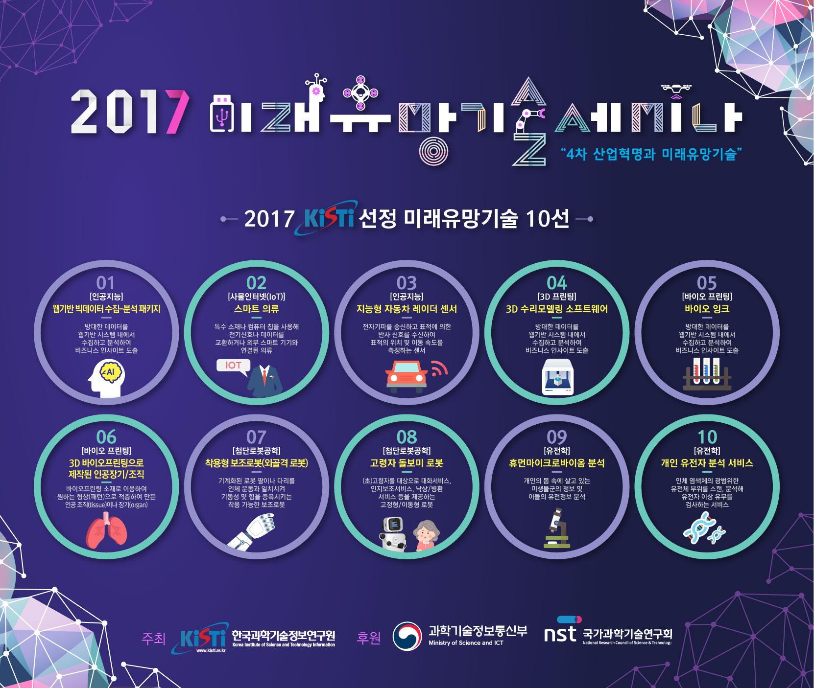 2017 미래유망기술세미나 자세한 내용은 본문 참조