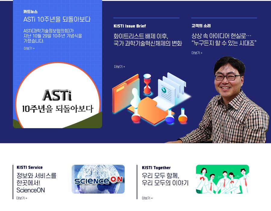 카드뉴스, KISTI Issue Brief, 고객의 소리, KISTI Service, KISTI Together