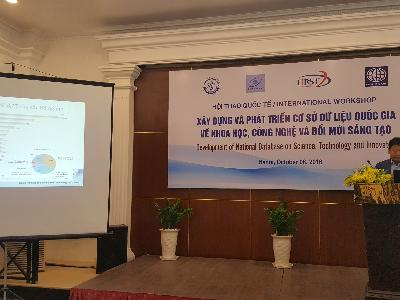 KISTI attended 2016 Vietnam National Workshop for S&T Innovation
