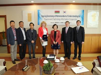 벨라루스 과학기술위원회 위원장 방문 및 MOU 체결식
