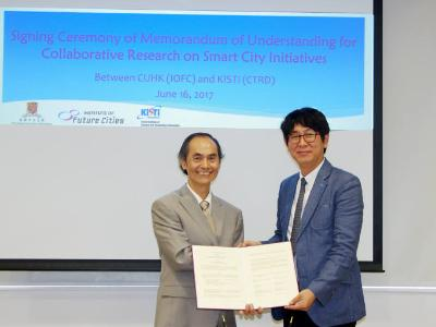 Collaborative Research on SMART City Intiatives with CUHK in Hong Kong