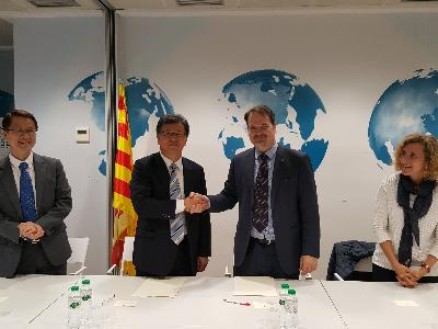 MoU between NST and ACCIO in Barcelona for promoting R&D collaboration